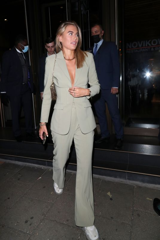 ARABELLA CHI Leaves Novikov in London 09/26/2020