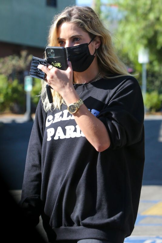 ASHLEY BENSON Out for Coffee in Los Feliz 09/25/2020