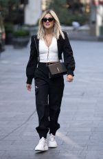 ASHLEY ROBERTS Arrives at Heart Radio in London 28.09.2020
