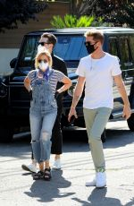 ASHLEY TISDALE in Denim Overalls Out House Hunting in Los Angeles 09/18/2020