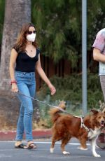 AUBREY PLAZA and Jeff Baena Out with Their Dogs in Los Angeles 09/15/2020