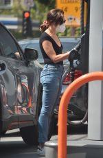 AUBREY PLAZA in Denim at a Gas Station in Los Angeles 09/20/2020