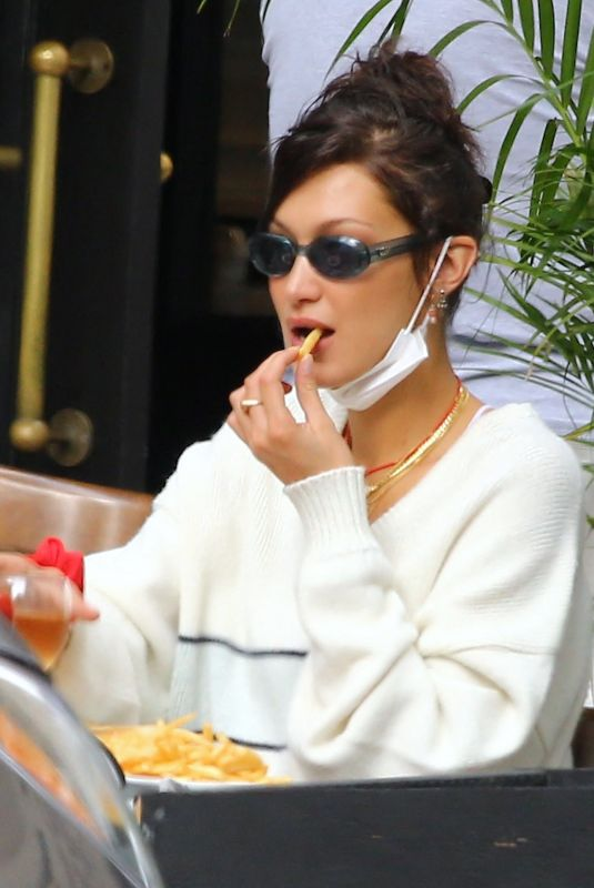BELLA HADID Out for Lunch at Three Guys in New York 09/24/2020