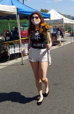 BLANCA BLANCO at a Farmers Market in West Hollywood 09/06/2020