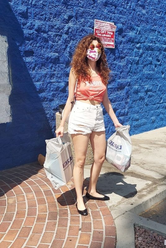 BLANCA BLANCO in Denim Shorts Out Shopping in Los Angeles 09/20/2020