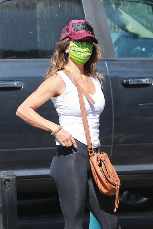 BROOKE BURKE Arrives at a Gym in West Hollywood 08/31/2020