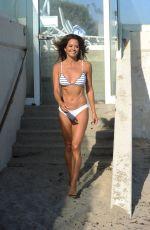 BROOKE BURKE in Bikini Filming Her Body App in Malibu 08/10/2020