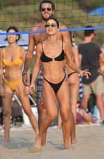 CAMILA COELHO in Bikini Playing Volleyball at a Beach in Santa Monica 09/26/2020