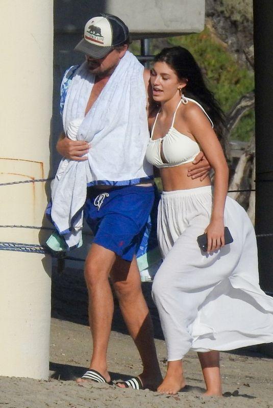CAMILA MORRONE and Leonardo Dicaprio Out on the Beach in Malibu 09/08/2020