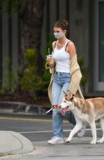 CAMILA MORRONE Out with Her Dog in Los Angeles 09/11/2020