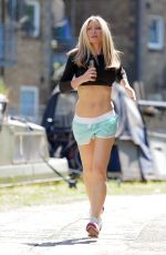CAPRICE BOURRET Out Jogging in London 09/13/2020