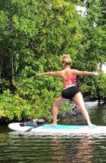 CASSIE SCERBO Doing Yoga at Paddle Board - Instagram Photos 09/13/2020