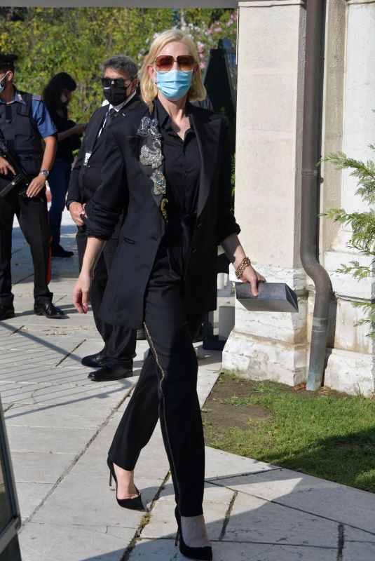 CATE BLANCHETT Arrives at Hotel Excelsior in Venice 09/07/2020