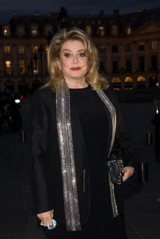 CATHERINE DENEUVE Arrives at Louis Vuitton Stellar Jewelry Launch in Paris 09/28/2020