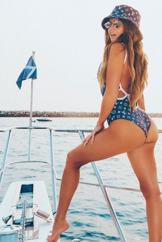 CHANEL WEST COAST in Swimsuit – Instagram Photos 09/13/2020