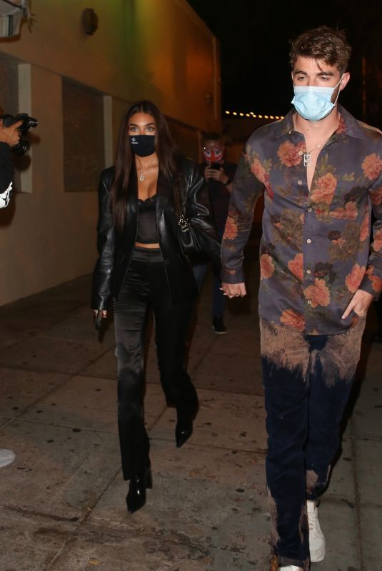 CHANTEL JEFFRIES and Andrew Taggart Kelsey Calemin's Father of Foods' Party in West Hollywood 09/23/2020