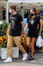 CHANTEL JEFFRIES and Drew Taggert at Farmers Market in Los Angeles 09/13/2020