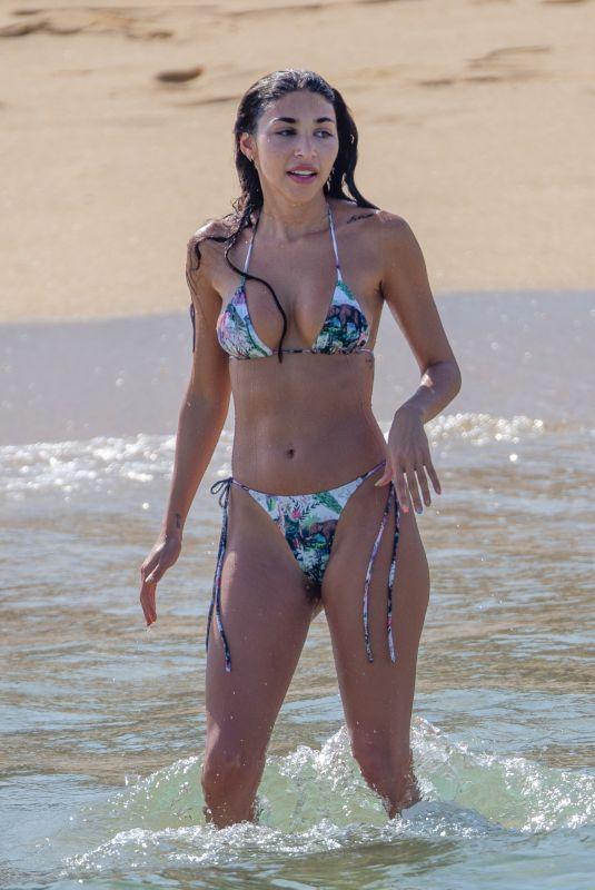 CHANTEL JEFFRIES in Bikini at a Beach in Cabo San Lucas 09/08/2020