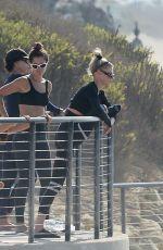 CHARLOTTE MCKINNEY Doing Yoga with Friends at a Beach in Malibu 09/23/2020