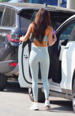 CHATEL JEFFRIES in Tights Arrives at a Gym in West Hollywood 09/25/2020