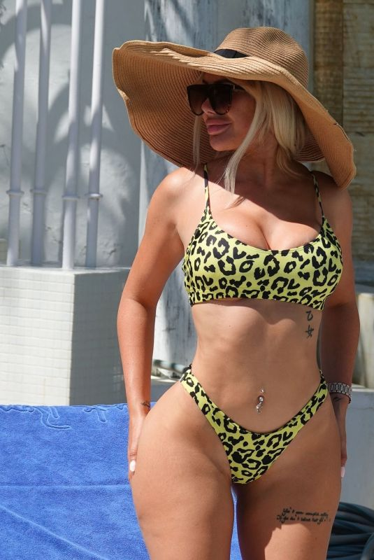 CHLOE FERRY in Bikini at a Pool in Marbella 09/04/2020