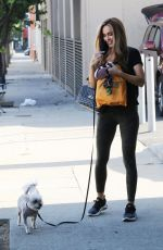 CHRISHELL STAUSE Out with her Dog in Los Angeles 09/05/2020