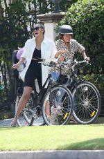 CHRISSY TEIGEN Out Riding a Bike in Sherman Oaks 09/03/2020