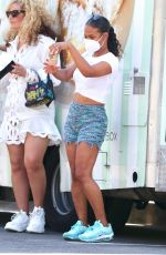 CHRISTINA MILIAN in Denim Shorts Out in Los Angeles 09/06/2020