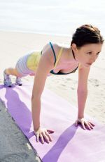 CHYLER LEIGH Workout at a Beach