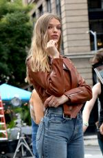 CLARE CRAWFORD at a Maybelline Commercial Photoshoot in New York 09/04/2020