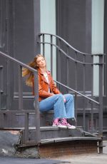 CLARE CRAWFORD on the Set of a Ohotoshoot in New York 09/03/2020