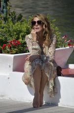 CLAUDIA GERINI Arrives at Hotel Excelsior in Venice 09/05/2020
