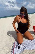 CLAUDIA ROMANI in Bikini at a Beach in Miami 09/03/2020
