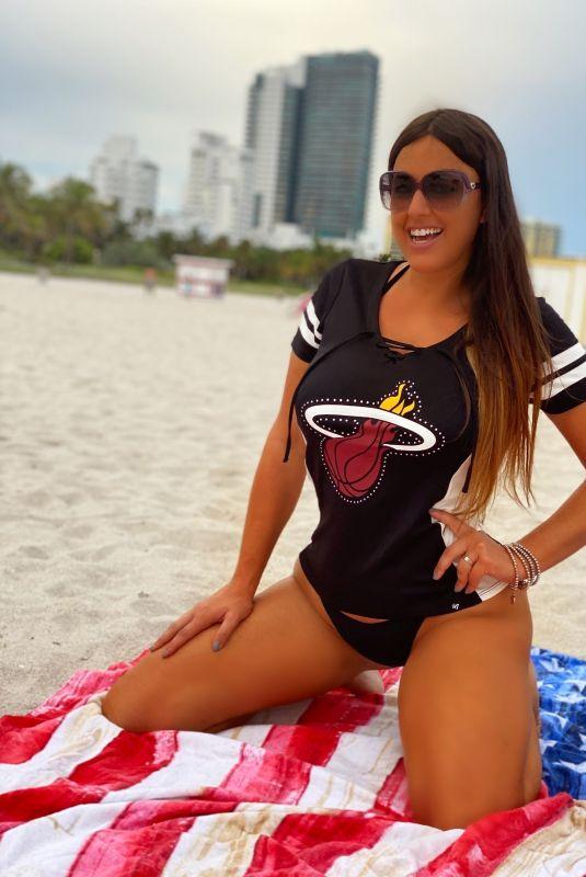 CLAUDIA ROMANI on the Beach in Miami Beach 09/29/2020