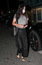 COURTENEY COX Out for Dinner in Santa Monica 08/26/2020
