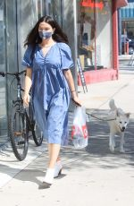 CRYSTAL REED Out with Her Dog in Los Angeles 09/22/2020