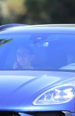 DAKOTA FANNING Drive Her New Porsche Out in Los Angeles 09/25/2020