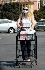 DAKOTA FANNING Out Shopping at Vons in Burbank 09/29/2020