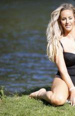 DANIELLE MASON in a Black Swimsuits 09/18/2020