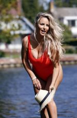 DANIELLE MASON in a Red Swimsuit 09/18/2020