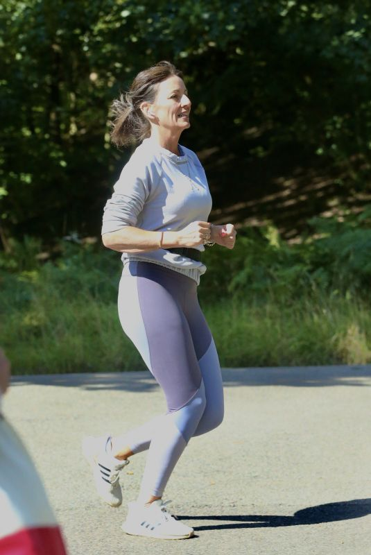 DAVINA MCCALL Out Jogging at a Country Park in Kent 09/01/2020