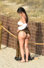 DEMI ROSE in Bikini Out with Her Dog at a Beach in Spain 09/07/2020