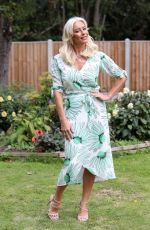 DENISE VAN OUTEN on the Set of The Only Way is Essex 09/06/2020
