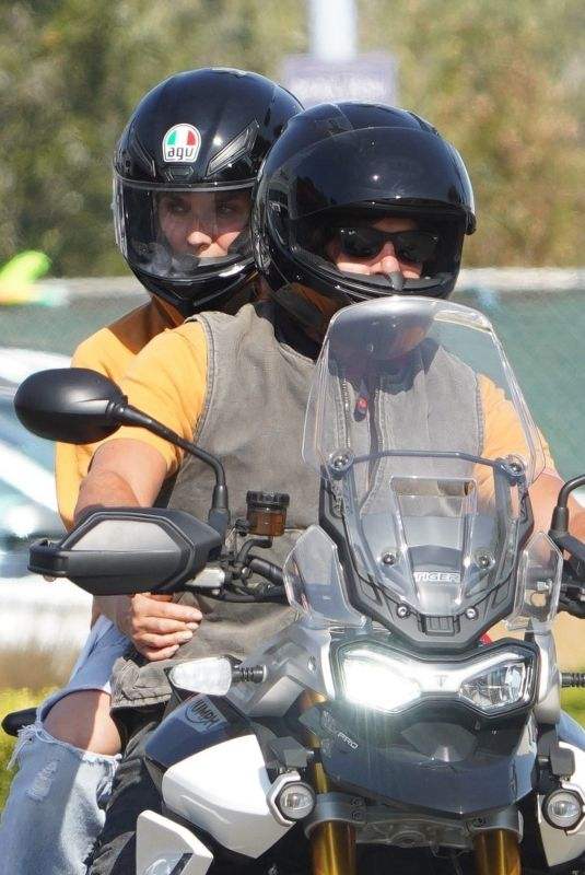 DIANE KRUGER and Norman Reedus Riding a Motorcycle Out in Malibu 09/03/2020
