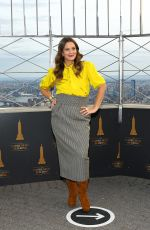 DREW BARRYMORE Lighting the Empire State Building in Manhattan 09/14/2020