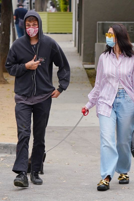 DUA LIPA and Anwar Hadid Out with Their Dog in West Hollywood 09/110/2020