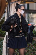 DUA LIPA Out with Her Dog in New York 09/23/2020