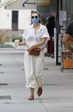 ELIZABETH OLSEN Heading to Alfred Coffee in Los Angeles 09/08/2020