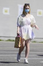 ELLE FANNING Out Shopping in Los Angeles 09/09/2020