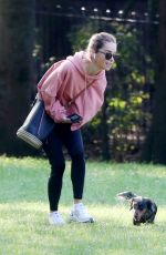 EMILIA CLARKE Out with Her Dog at a Park in London 09/14/2020